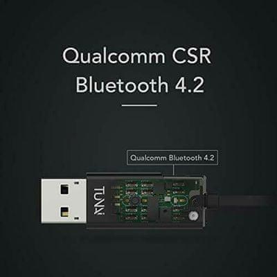 moderný miniatúrny Bluetooth prijímač pre autorádiá a domáce hifi systémy tunai firefly chat s 3,5 mm jack konektorom podpora aac mp3 sbd mikrofón pre handsfree hovory