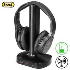 Trevi FRS 1480 R brezžične TV slušalke, črne - Odprta embalaža