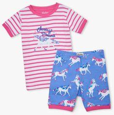 Hatley dívčí pyžamo z organické bavlny Dreamy Unicorns S21UGK217