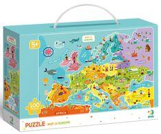 Dodo Toys puzzle Karta Europe, 100 komada