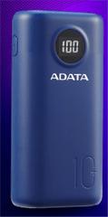 AData prijenosna baterija Powerbank 10.000 mAh AP10000QCD-DGT-CDB, plava