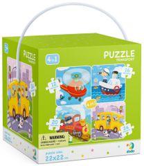 Dodo Toys slagalica 4u1 Transport