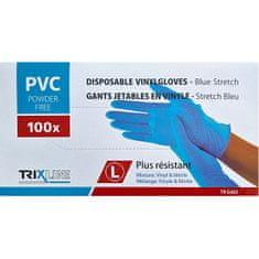 Pharma Activ Rukavice nitril/vinyl modré bez pudru L jedn. 100 ks