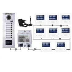 ACS Zoneway Set videozvonku ZONEWAY ZW-432M + ZW-619-8D
