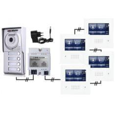 ACS Zoneway Set videozvonku ZONEWAY ZW-432M + ZW-702-4