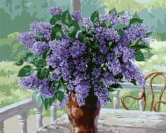 Kouzelný Art Malování podle čísel Kytice šeříku na stole