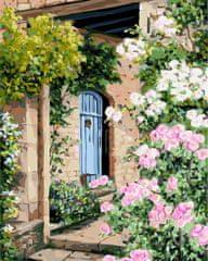 Kouzelný Art Malování podle čísel Dům v květinách