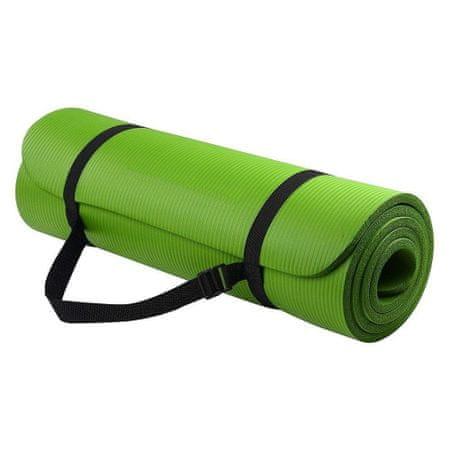 MG Gymnastic Yoga Premium csúszásgátló jógaszőnyeg 10mm + tok, zöld