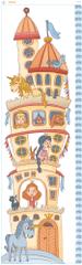 GEKONKY Samolepící nástěnný dětský metr: Zámek s princeznami