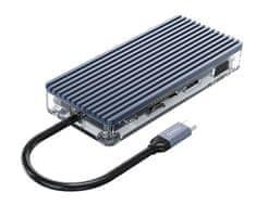 Orico WB-11P USB-C priključna postaja, 11 v 1