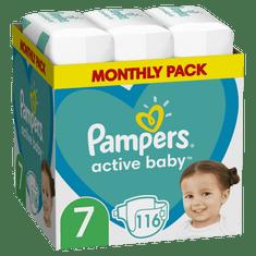 Pampers Active Baby Plienky Veľkosť 7 116 ks, 15kg+