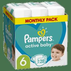 Pampers Active Baby Pelenka 6-os nagyság 128 db, 13kg-18kg