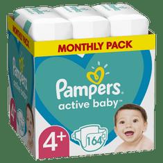 Pampers Active Baby Pelenka, 4+-es méret, 164 db, 10kg-15kg