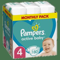 Pampers Active Baby Plienky Veľkosť 4 180 ks, 9kg-14kg