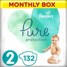 Pampers Pure Protection Pelenka, 2-es méret, 132 db, 4-8 kg