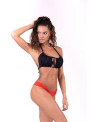 Nebbia Bikini top s riasením (vrchný diel) 671 Čierna S