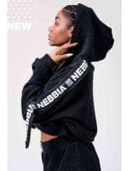 Nebbia Rebel Hero crop mikina 520 čierna S