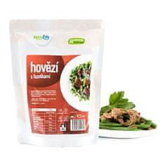 KetoLife Hotové jídlo - Hovězí s fazolkami - 1 porce