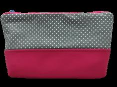 Šišipu Kozmetická taštička Ružové bodky