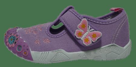 V+J 131-0055-U1_2 lány vászon szandál, 30, lila