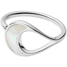 Skagen Ocelový prsten s perletí SKJ1365040