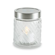 Vestina sveča EKO steklena solarna sveča Vestina SOLAR, bela