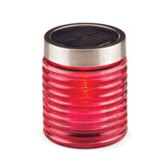 Vestina sveča EKO steklena solarna sveča Vestina SOLAR, rdeča