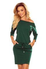Numoco Sportovní šaty s kapsami - tmavě zelená - bavlna