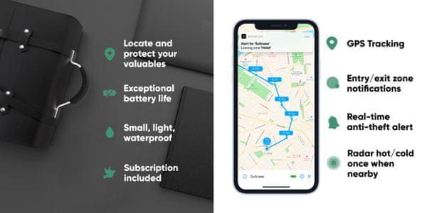 INVOXIA Smart GPS lokátor kompakt eszköz GPS gyorsulásmérő bluetooth hatótávolság 20 m