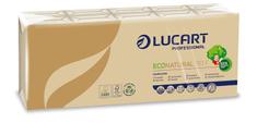 """Lucart Professional Papírové kapesníky """"EcoNatural"""", přírodní hnědá, 4-vrstvé, 10x9 ks"""