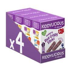 Kiddylicious Chrumkavé ryžové tyčinky s čučoriedkami (24x10 g)