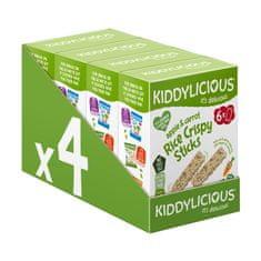 Kiddylicious Chrumkavé ryžové tyčinky s jablkom a mrkvou (24x10g)