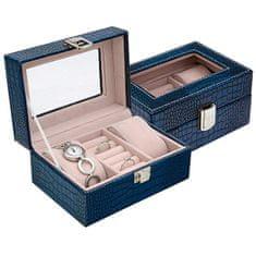 Jan KOS Ciemnoniebieskie pudełko na biżuterię SP-1813 / A14