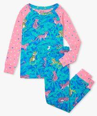 Hatley dívčí pyžamo z organické bavlny Jungle Cats S21JCK1269