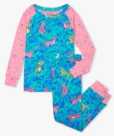 Hatley lány pizsama organikus pamutból Jungle Cats S21JCK1269, 110, kék
