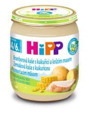 HiPP BIO Brambory a kukuřice s krůtím masem - 6 x 125g