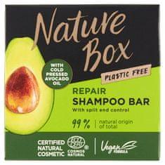 Nature Box Tuhý šampón pre regeneráciu vlasov a kontrolu rozštiepených končekov Avocado Oil (Shampoo Bar) 85 g