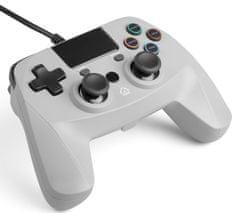 Snakebyte GAME:PAD 4 S kabelový gamepad pro PS4 šedý