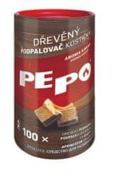 PEPO PE-PO dřevěný podpalovač kostičky 100 ks