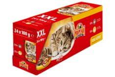 Propesko vrecko mačka kura + hovädzie 24 x 100 g