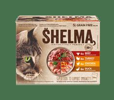 SHELMA bezobilné dušené filetky masový výběr 24 x 85 g