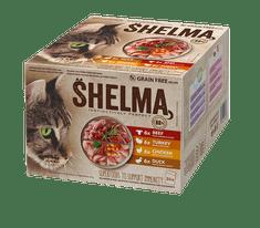 SHELMA bezobilné dusené filetky mäsový výber 24 x 85 g