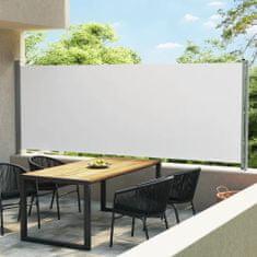 shumee krémszínű behúzható oldalsó terasz-napellenző 600 x 170 cm