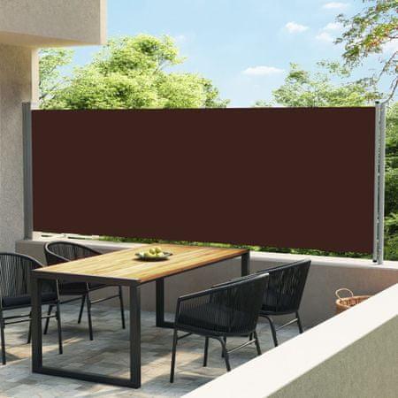 shumee barna kihúzható oldalsó terasz-napellenző 600 x 160 cm