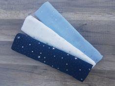 KidPro Mušelínové bavlněné pleny modrý mix 60x60 cm, 3 ks