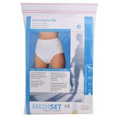 Mediset Inkontinenční dámské kalhotky s integrovanou sací vložkou z mikrofáze a dodatečnou nepropustnou PU -