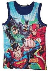 Justice League Chlapecké modré tílko s obrázky superhrdinů .