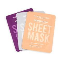 Revolution Skincare Kombinirane maske za mešano kožo Biorazgradljiva (Combination Skin Sheet Mask)