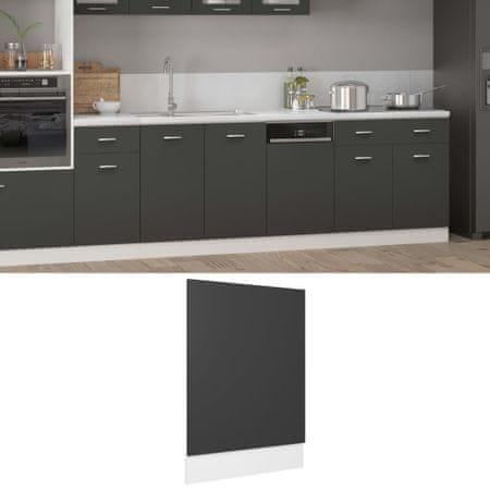 shumee szürke forgácslap mosogatógép-panel 45 x 3 x 67 cm