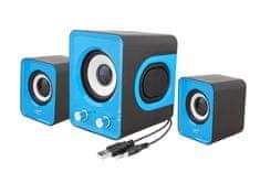 LTC Komplet računalniških zvočnikov 2.1 11W USB 5V modri LTC